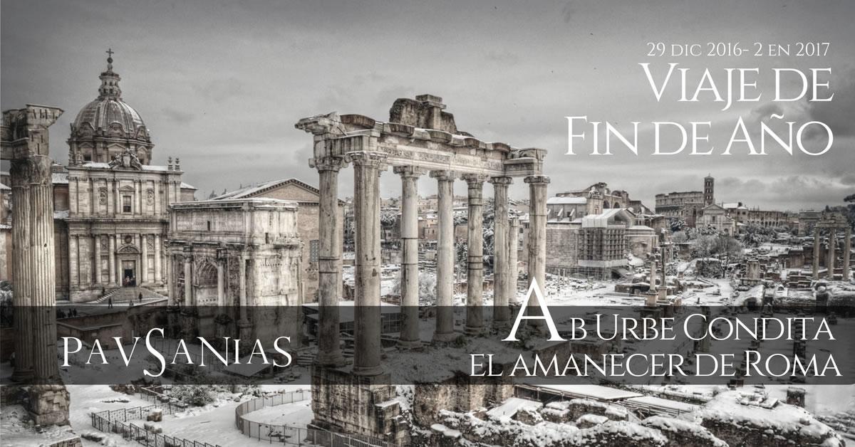 Para acabar 2016, hemos preparado un Viaje de Fin de Año, muy especial. Volveremos a Roma para encontrar el amanecer de la ciudad más poderosa de la tierra en la Antigüedad. Nuestro eje temático será la historia y las leyendas de la fundación de la ciudad. Buscaremos sus orígenes, emplazamientos originales, rituales de fundación, leyendas y amaneceres inolvidables harán de este viaje una experiencia única y diferente a lo convencional.