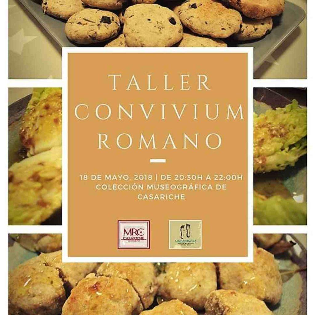 Cartel sobre gastronomía romana en Casariche