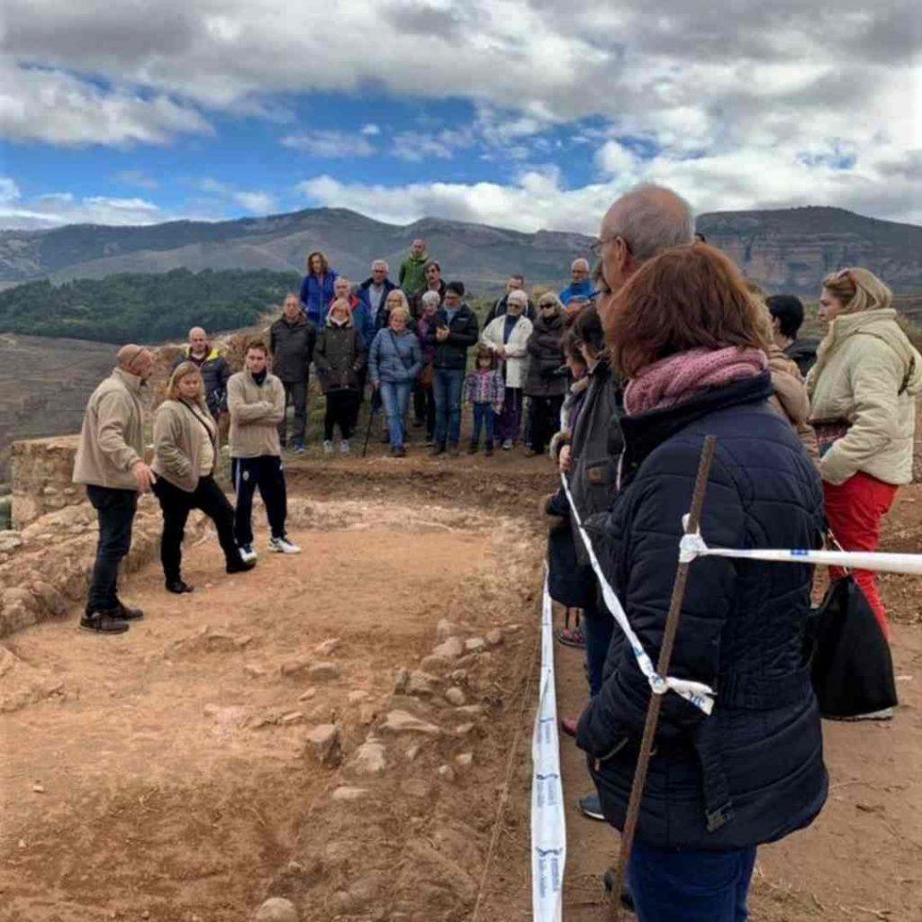 Visitas guiadas al Castillo de Nalda con técnicos arqueólogos