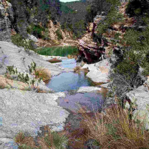Paraje natural en Chella, rio