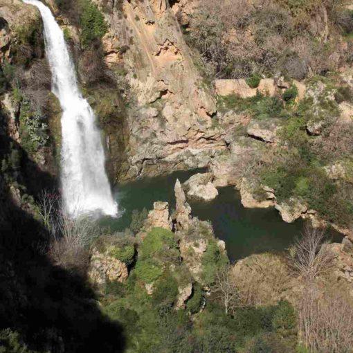Cascada y poza de agua en Chella