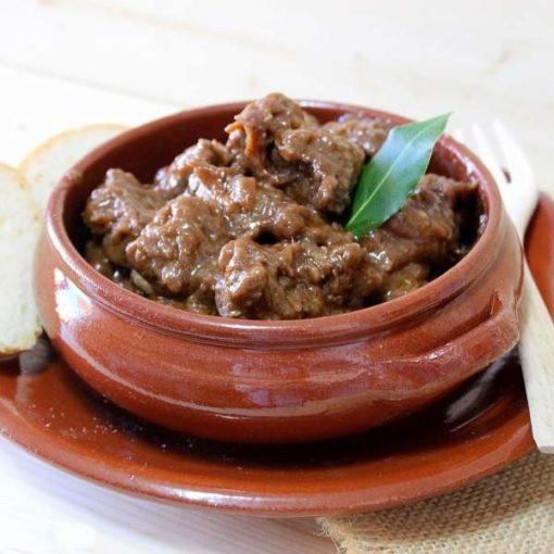 Guiso de carne de venado