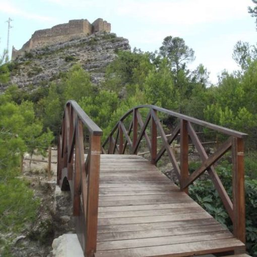Pasarela y castillo de Millares