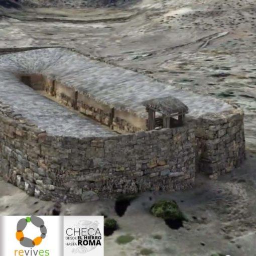 Reconstrucción virtual de Castil de Griegos