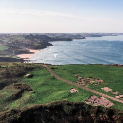 Campa Torres y consta marítima de Gijón