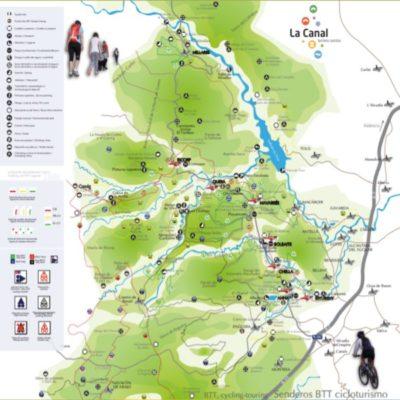 Mapa de La Canal Territorio Turístico