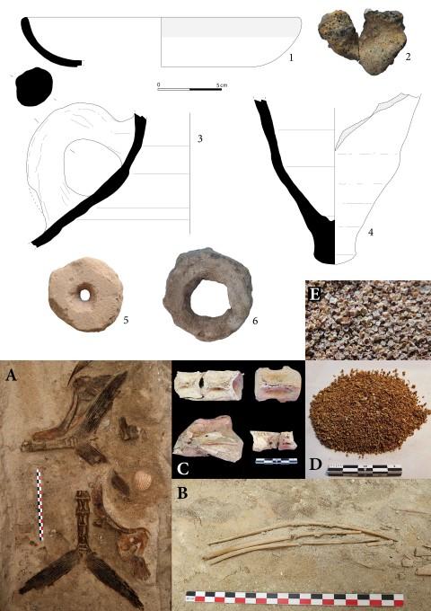 Ceramicas y restos arqueozoologicos