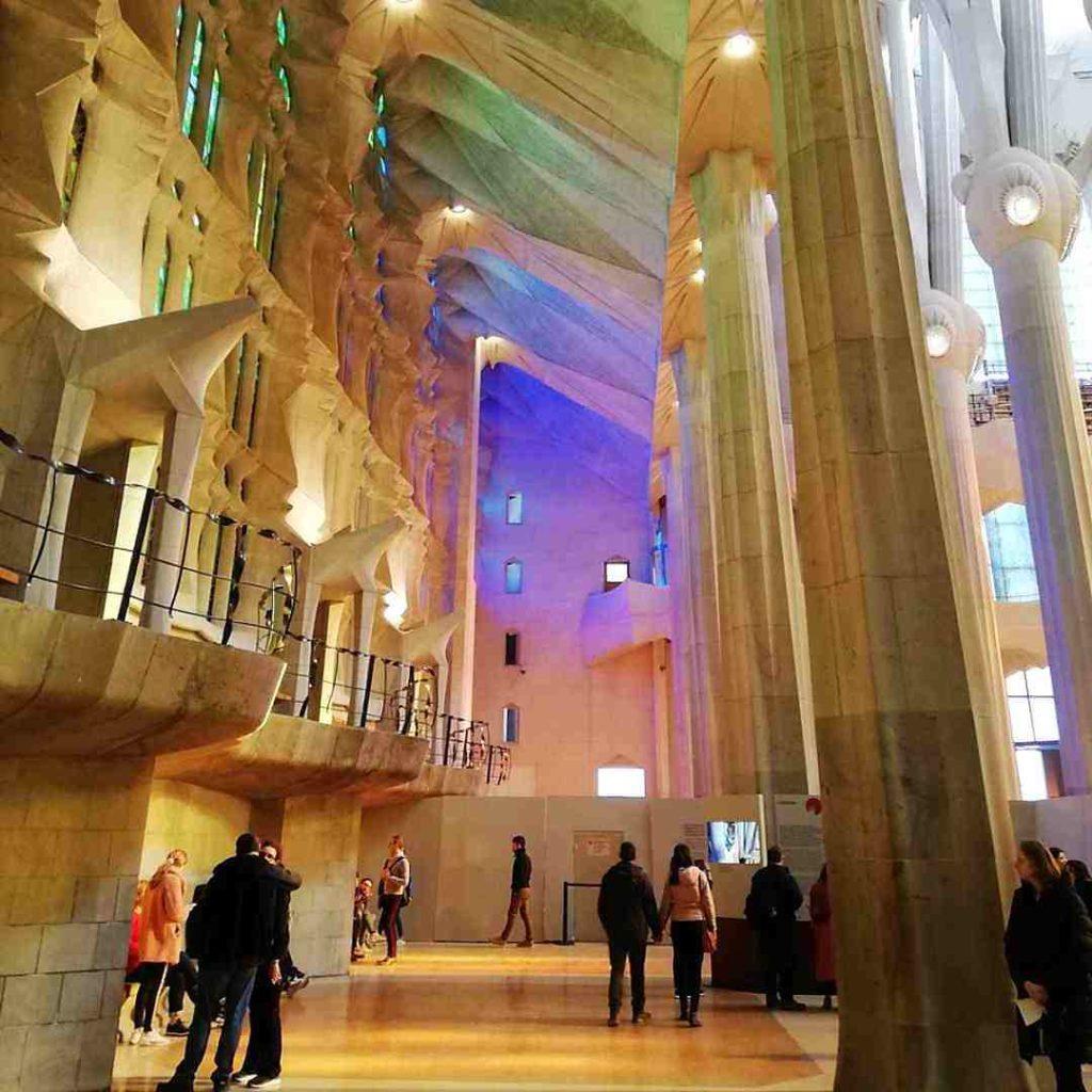 Núria Pujol visita Sagrada Familia de Barcelona