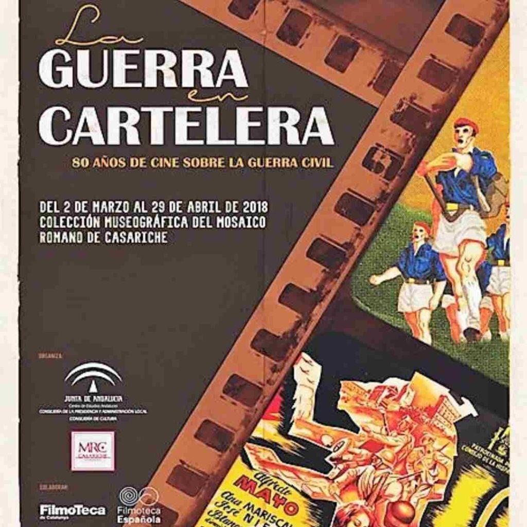 Cartel sobre exposiciones temporales en Casariche