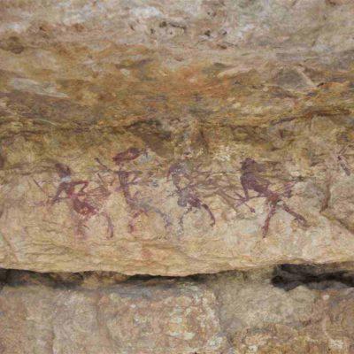 Pinturas rupestres del abrigo del Voro de Quesa