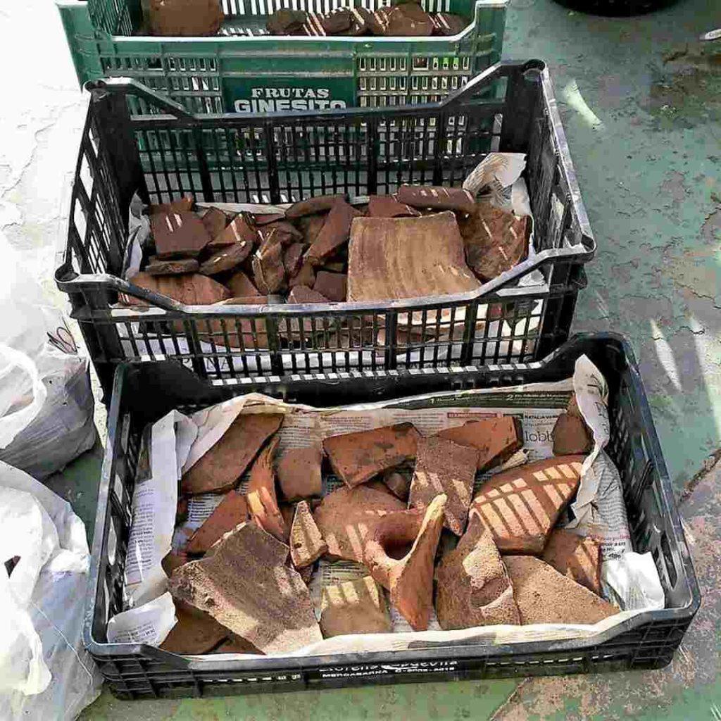Recuperación de materiales arqueológicos para estudio de Torralba d'en Salort