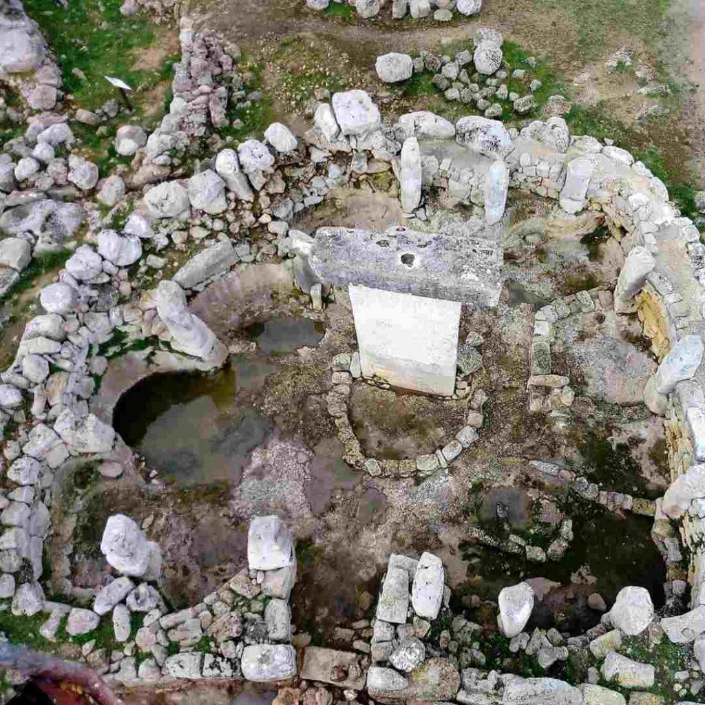 Vista aérea del poblado talayótico de Torralba d'en Salort