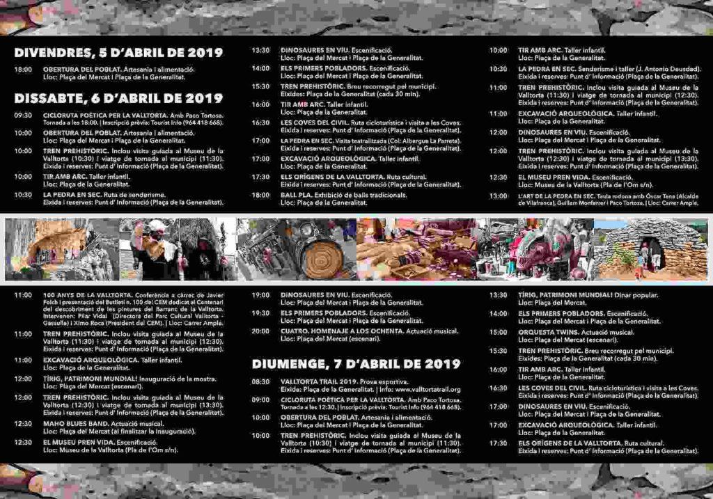 Programa de la III Muestra Prehistórica de Tírig
