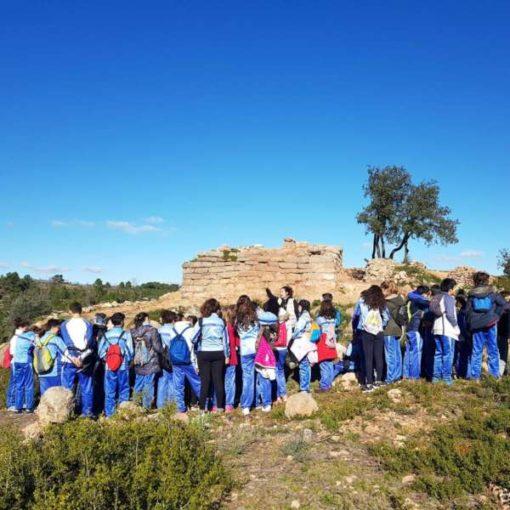 Visita escolar al yacimiento arqueológico de Gátova