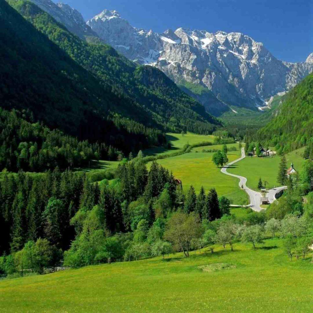 Imagen del valle de Logarska