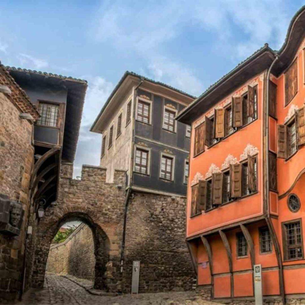 Casas y muralla de Plovdiv