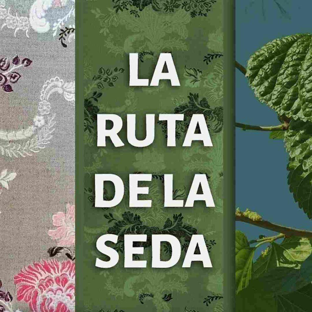 Cartel de la ruta de la seda de Riba-roja de Turia