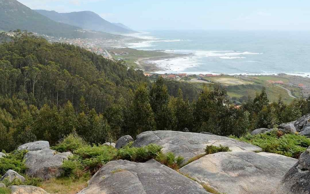 Vista de la Costa dos Castros en Oia Pontevedra