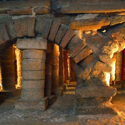 Detalle de las termas romanas de Gijón