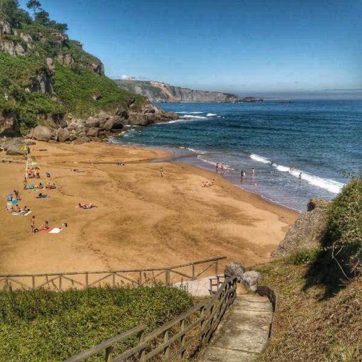 Playa de La Ñora en Gijón