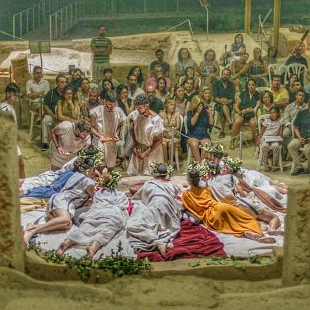 Recreación histórica en la villa romana del Ruedo Almedinilla