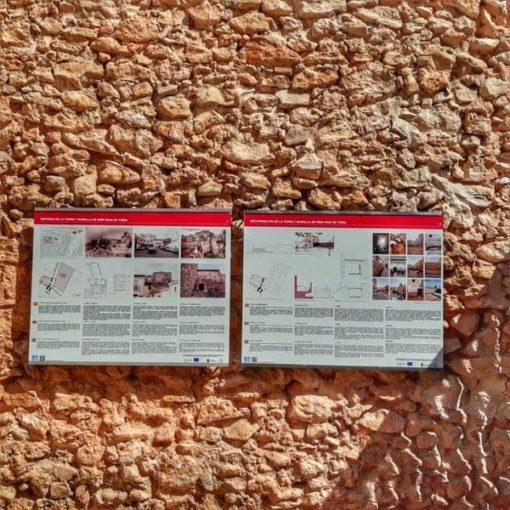 Carteles Torre y muralla árabe